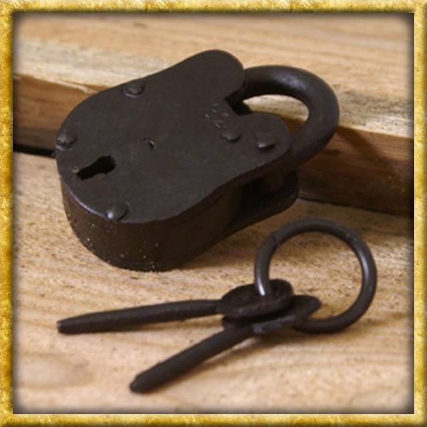 Kleines Vorhängeschloss mit 2 Schlüsseln