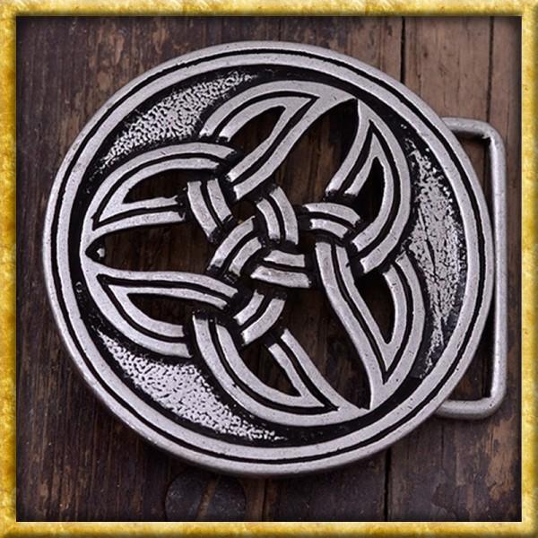 Gürtelschnalle Keltische Dreifalt - Silber oder Bronze