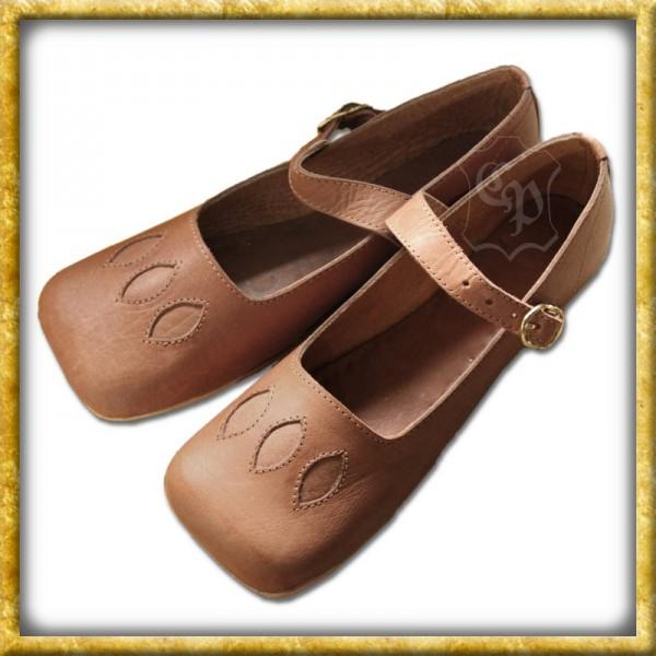 Mittelalter Kuhmaul Schuh aus Leder