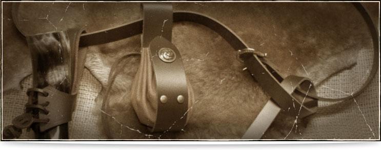 Drachenhort | Halter aus Leder für Trinkhörner