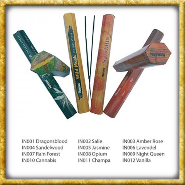 Räucherstäbchen - 12 verschiedene Düfte