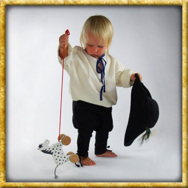 Wikingerhose mit Beinschnürung für Kinder - Schwarz