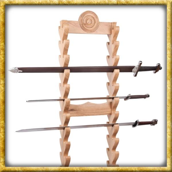 Schwertständer aus Holz - 24 Schwerter