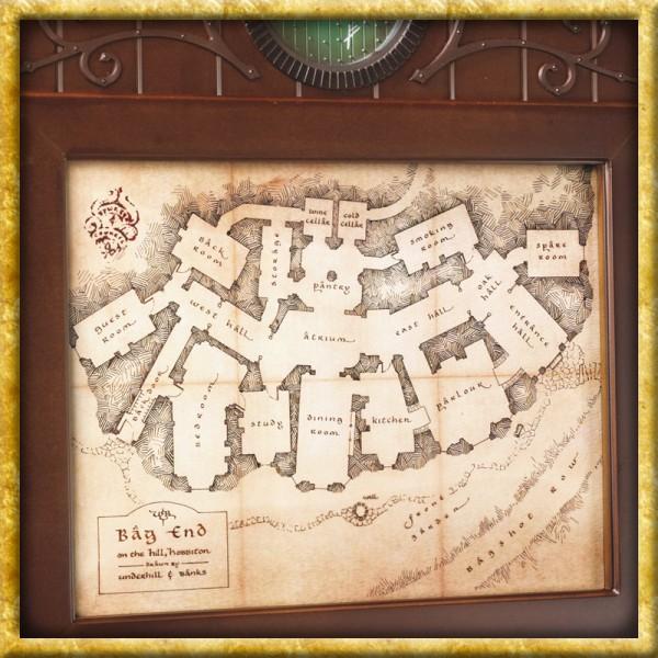 Der Hobbit - Schlüsselbrett Karte von Beutelsend