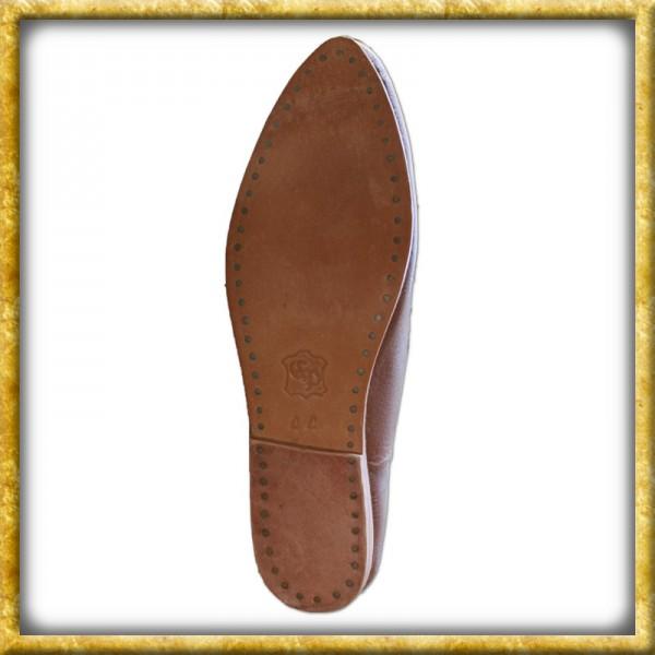 Mittelalterliche Schuhe mit Schnürung aus Leder