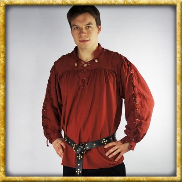 Geschnürtes Mittelalterhemd - Rot