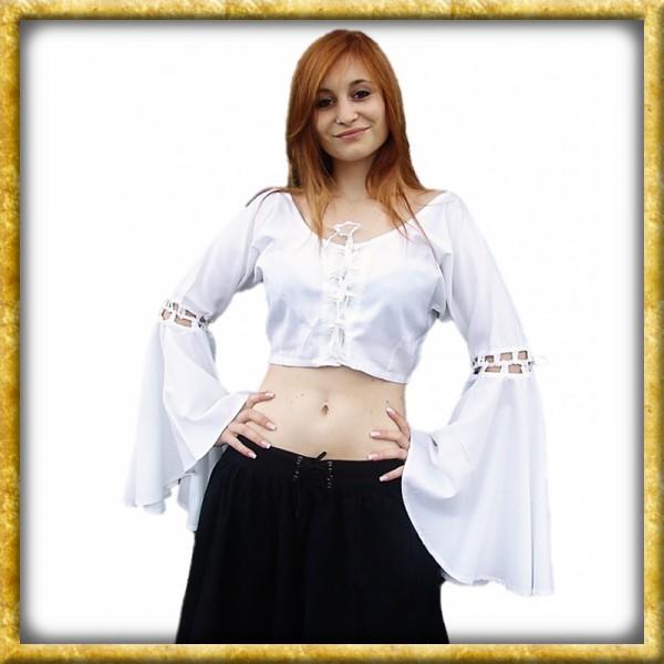 Bluse mit Trompetenärmeln Esmeralda - Weiss