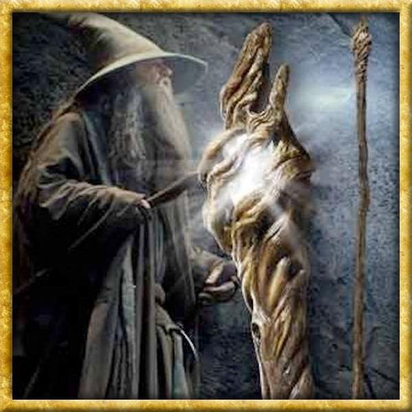 Der Hobbit - Gandalfs Stab mit Leuchtfunktion