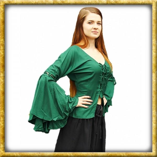 Bluse mit Trompetenärmeln Carmen - Grün