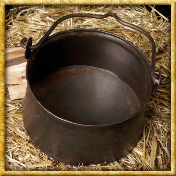 Mittelalter Lagertopf aus Stahl - 5 Liter