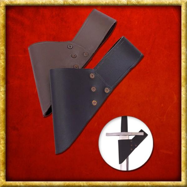 Schwertgürtelhalter aus Leder - Schwarz oder Braun