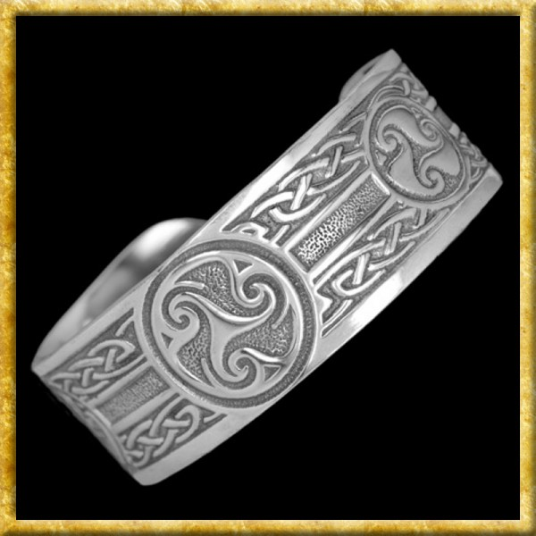 Armreif aus Zinn - Keltische Triskelen