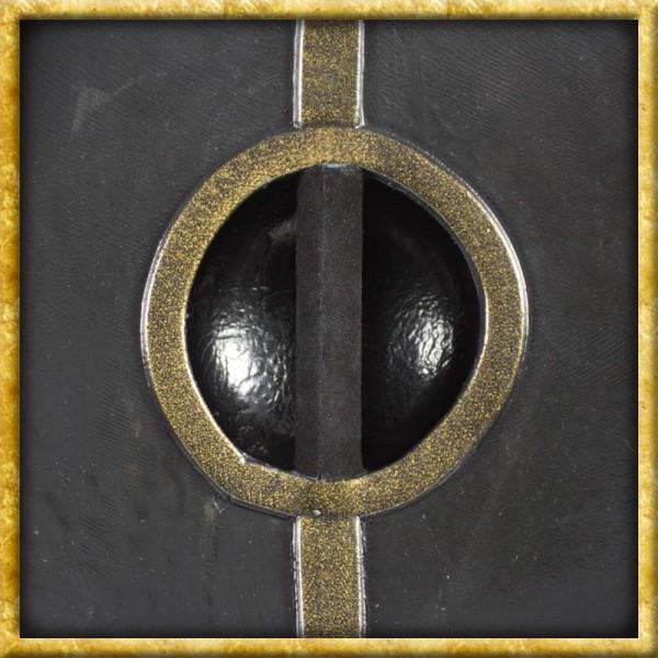 LARP Römischer Schild - Schwarz