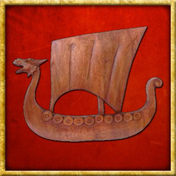 Wikinger Drachenboot - Handgeschnitzt