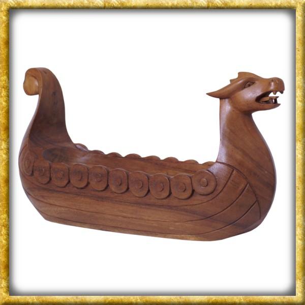 Schale Wikinger Drachenboot aus Holz