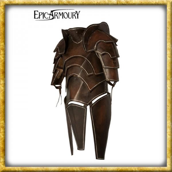 LARP Dunkelelfen Lederrüstung mit Untergewand