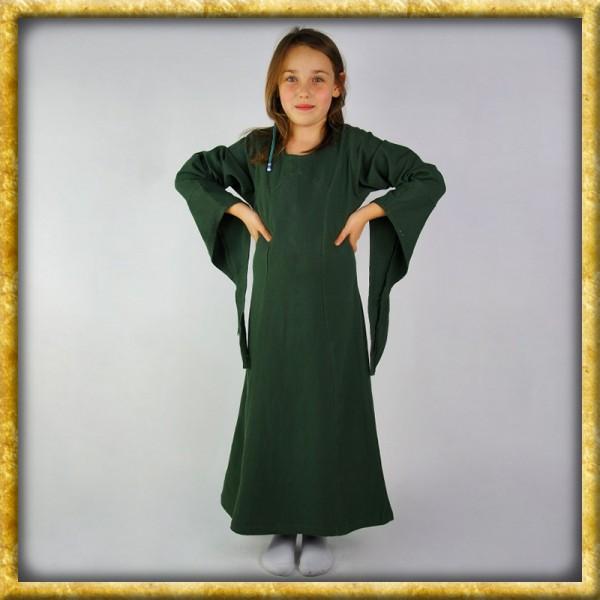 Kleid mit Trompetenärmeln für Mädchen - Grün