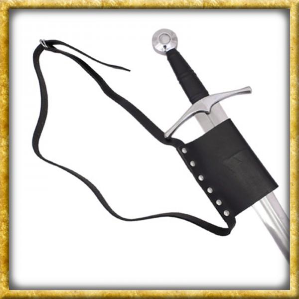 Gürtel mit Schwerthalterung - Schwarzes Leder