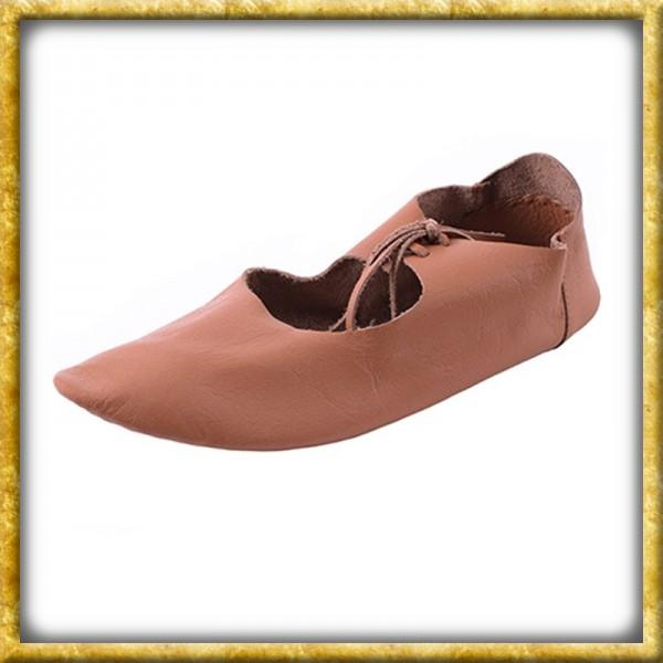 Flache Mittelalter Schuhe mit Ristschnürung