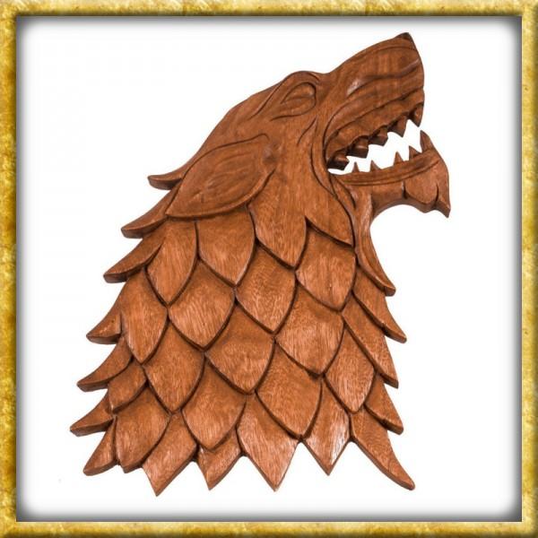 Wikinger Wolf aus Holz