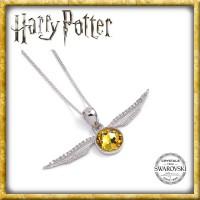 Harry Potter - Swarovksi Halskette & Anhänger Goldener Schnatz