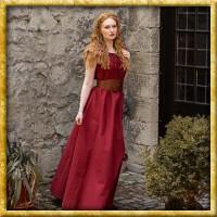 Bodenlanges Kleid mit Schulterrüsche - Diverse Farben