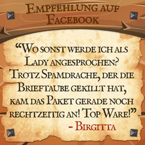 Facebook Bewertung Brigitta | Drachenhort