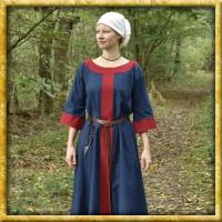 Frühmittelalter Kleid Gudrun - Blau/Rot