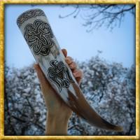 Trinkhorn mit Symbolen aus Gnjosdowo - ca. 400ml