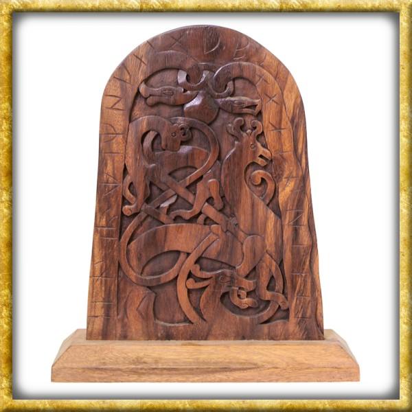 Grosser Runenstein aus Holz