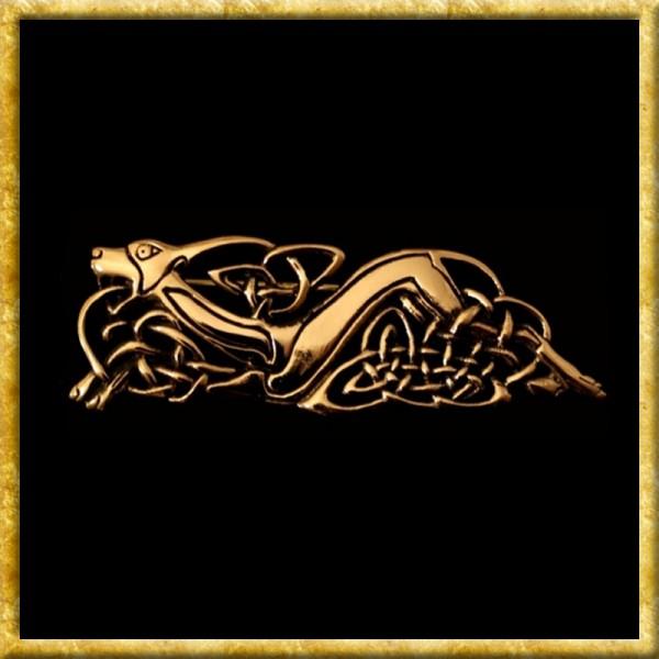 Gewandschließe Keltischer Hund - Bronze