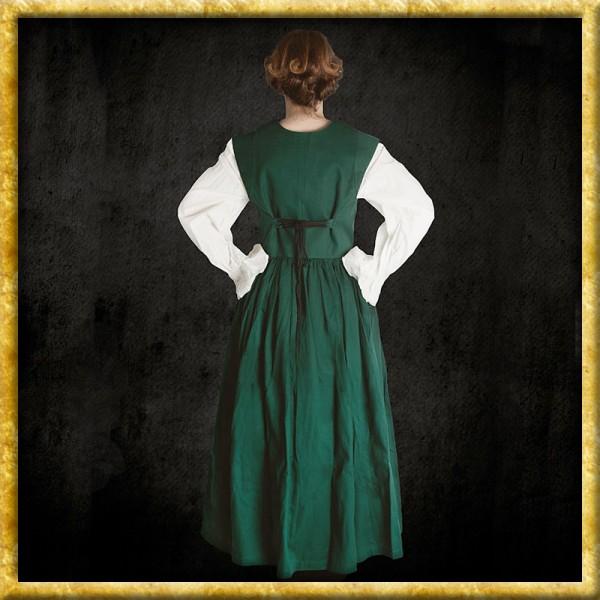 Rustikales ärmelloses Kleid - Grün