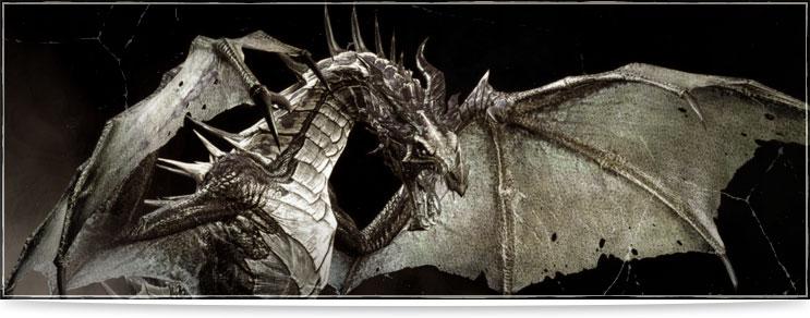 Drachenhort | Schwarze Drachenfiguren