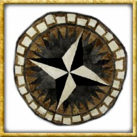 Lammfelldecke Black/White - Durchmesser 150cm