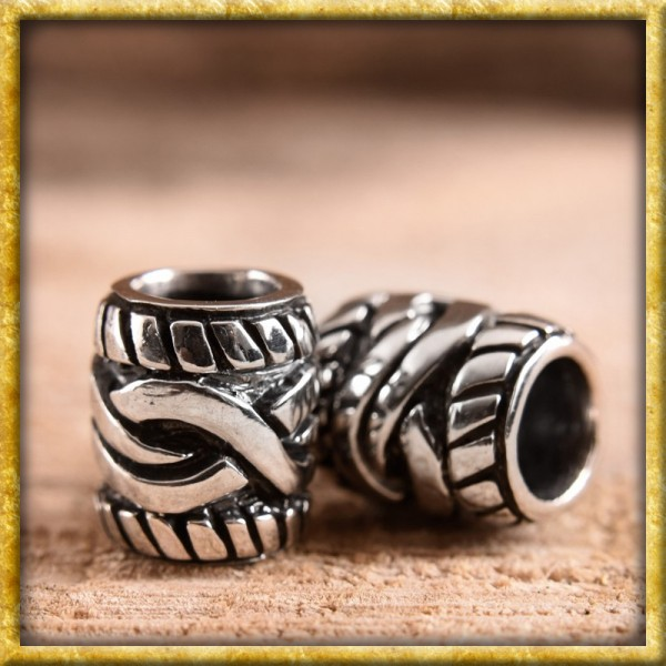 Bartperle mit keltischem Muster - Silber