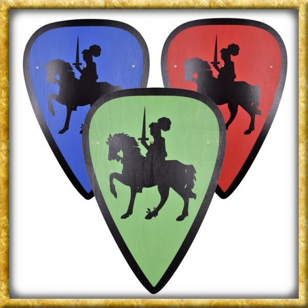 Kinder Holzschild Ritter Albert zu Ross - Diverse Farben