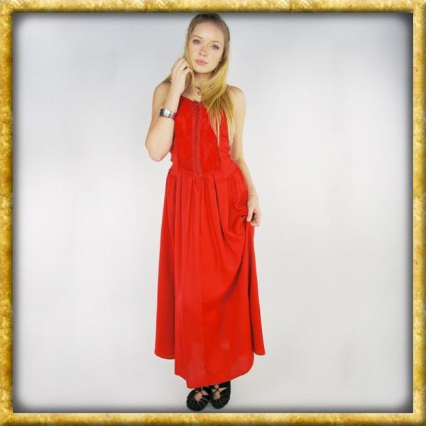 Mittelalter Miederkleid - Rot