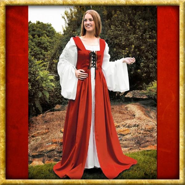 Kleid mit Schnürbustier - Rot