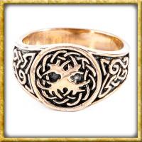 Keltenring aus Bronze - Yggdrasil