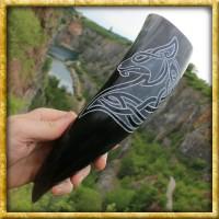 Trinkhorn mit keltischem Wolf - ca. 300ml