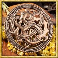 Wikinger Brosche Feuerdrache - Bronze