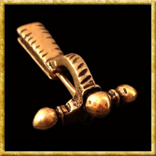 Römische Zwiebelknopf Fibel - Bronze