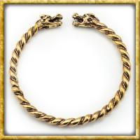 Wikinger Armreif Drachen aus Bronze