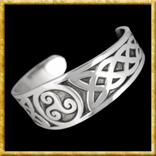 Armreif aus Zinn - Keltische Triskele