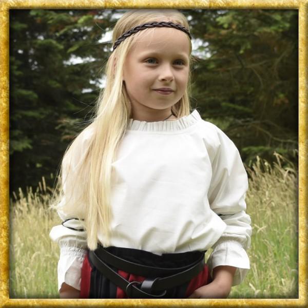 Mittelalter Bluse Helena für Kinder - Natur