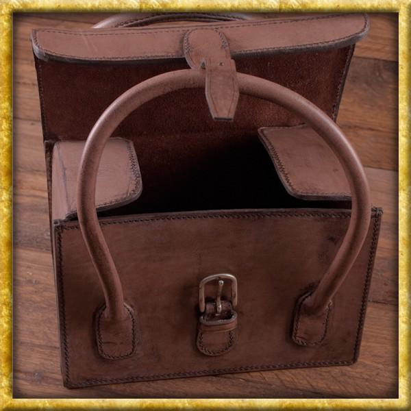 Jagdtasche aus Leder mit Henkel