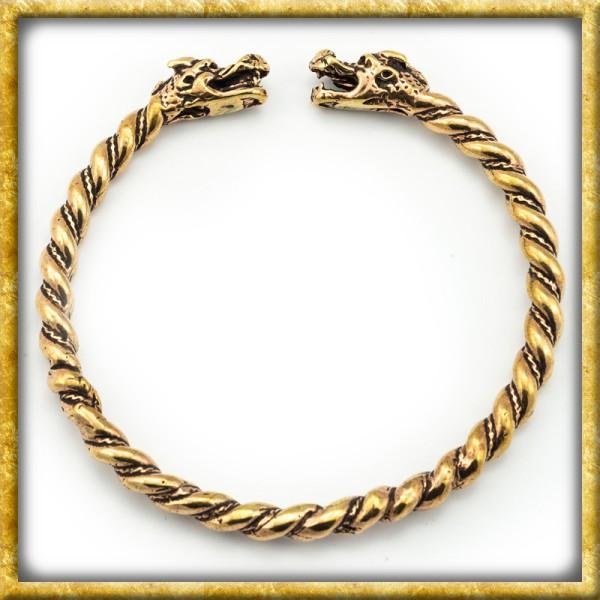 Wikinger Armreif aus Bronze - Drachen