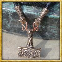 Wikinger Anhänger Thors Hammer Oseberg aus Bronze
