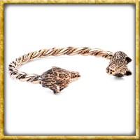Wikinger Armreif Wölfe aus Bronze - Klein