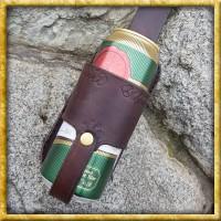 Bierdosenhalter aus Leder - Braun
